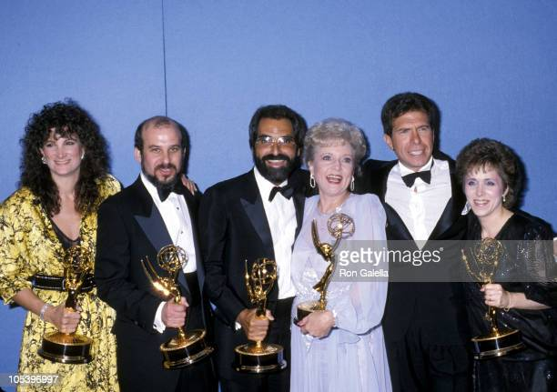 Betty White and the writers of Golden Girls during 38th Annual Primetime Emmy Awards at Pasadena Civic Auditorium in Pasadena California United States