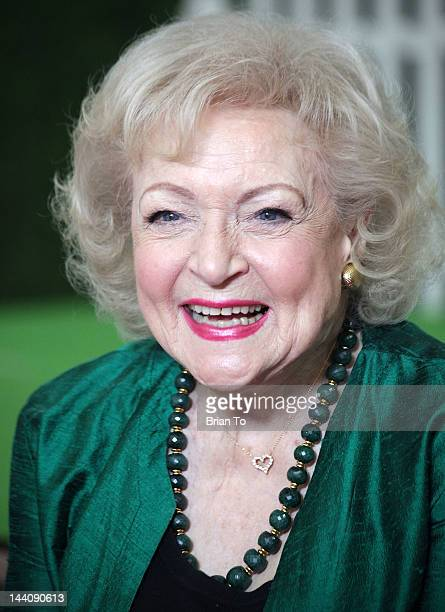 Betty White attends Betty White fashion shoot for The Lifeline Program at Smashbox Bigbox on May 9 2012 in Culver City California