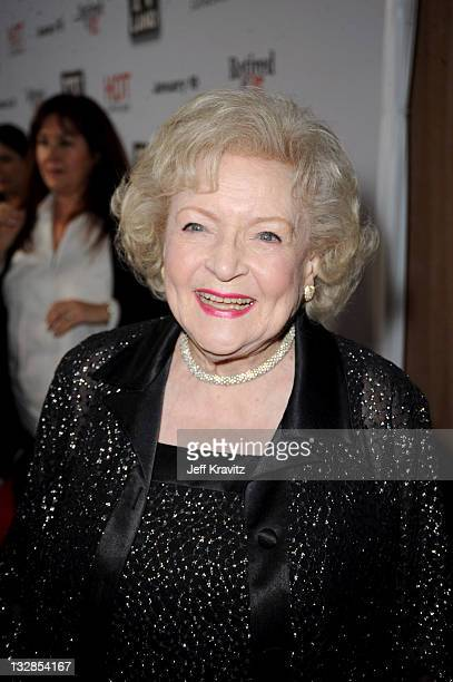"""Betty White attends TV Land's """"Hot In Cleveland"""" and """"Retired At 35"""" Premiere Party at Sunset Tower on January 10, 2011 in West Hollywood, California."""