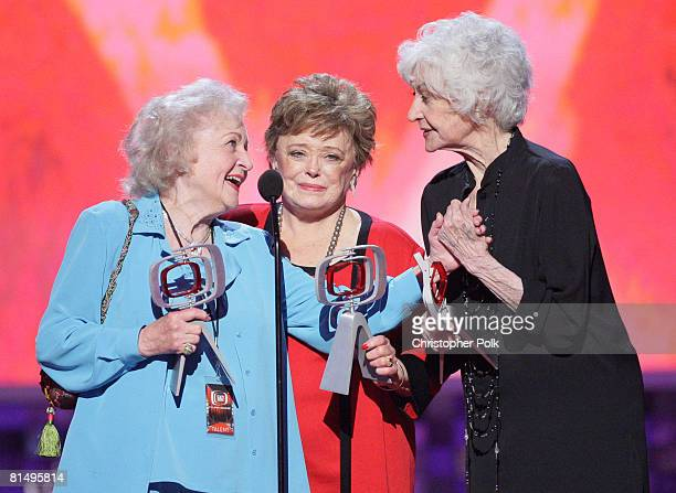 """Betty White, Bea Arthur and Rue McClanahan during the The 6th Annual """"TV Land Awards"""" in Santa Monica, CA on Jue 8, 2008."""