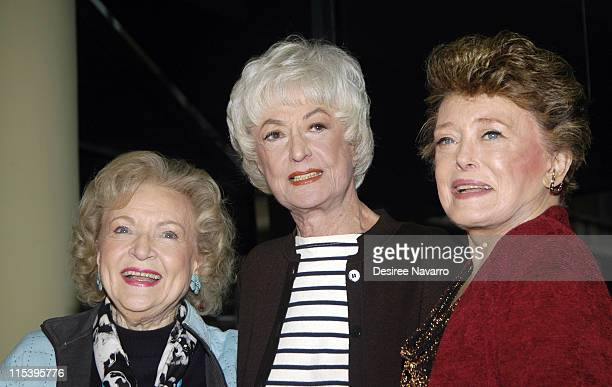 Betty White Bea Arthur and Rue McClanhan during The Golden Girls Season 3 Signing at Barnes and Noble November 222005 at Barnes and Noble Chelsea in...