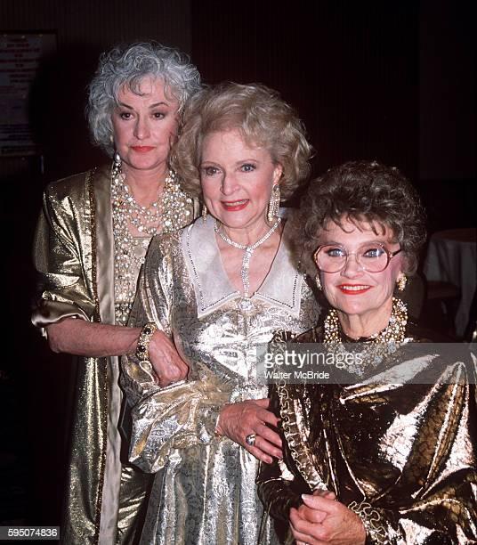 Betty White Bea Arthur Estelle Getty of The Golden Girls in 1990 in New York City