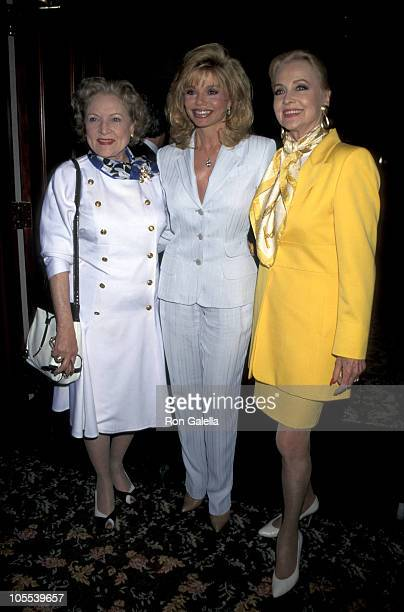 Betty White Loni Anderson and Anne Jeffreys during Child Help USA Benefit April 22 1996 at Century Plaza Hotel in Los Angeles California United States