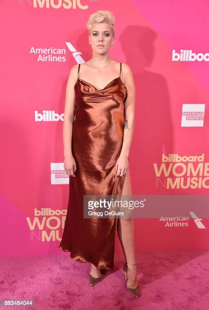 Betty Who arrives at the Billboard Women In Music 2017 at The Ray Dolby Ballroom at Hollywood Highland Center on November 30 2017 in Hollywood...
