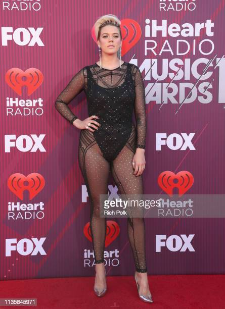 Betty Who attends the 2019 iHeartRadio Music Awards which broadcasted live on FOX at Microsoft Theater on March 14 2019 in Los Angeles California