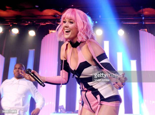 Betty Who performs onstage during the Hyundai AfterParty at the 29th Annual GLAAD Media Awards Los Angeles at The Beverly Hilton Hotel on April 12...