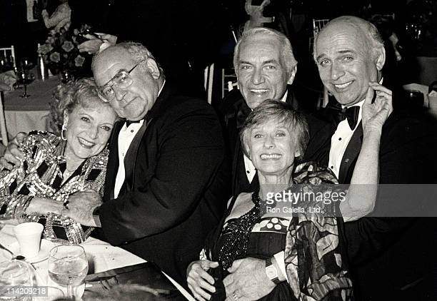 Betty Whte actor Ed Asner Ted Knight Cloris Leachman and Gavin MacLeod attend Television Academy Hall of Fame Awards on March 23 1986 at the Santa...