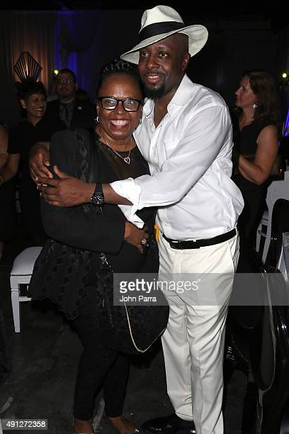 Betty Wright and Wyclef Jean attend Barry University's 75th Anniversary Birthday Bash at Soho Studios on October 3 2015 in Miami Florida