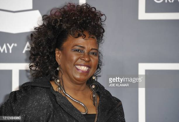 Betty Wright arrives at the Staples Center for the 54th Grammy Awards in Los Angeles California February 12 2012 AFP PHOTO Joe KLAMAR