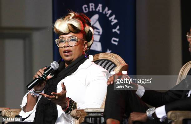 Betty Wright attends the GRAMMY U Conference at Gibson Guitar Showroom on April 7 2018 in Miami Florida