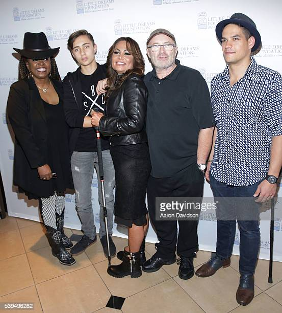 Betty Wright Nic Collins Orianne CollinsPhil Collins and Jean Pierre Espiritusanto attend Little Dreams Foundation Annual Open Musical Auditions at...