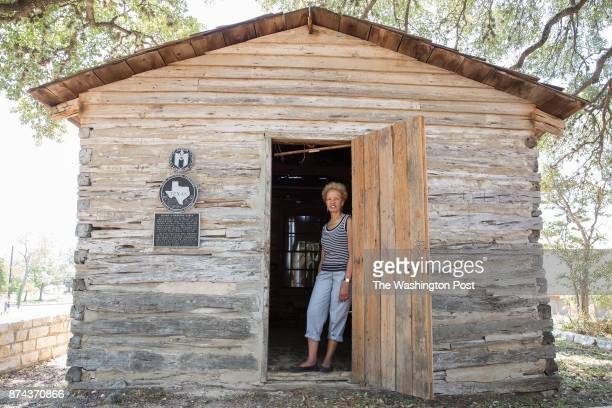 Bettye Kearse poses for a portrait inside the cabin built in 1863 by her greatgreatgrand uncle and former slave Henry Green Madison in Austin Texas...