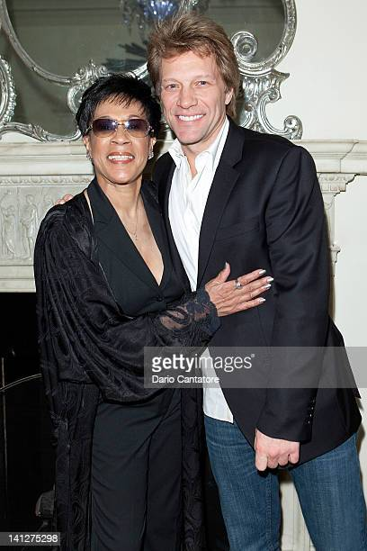 Bettye LaVette and Jon Bon Jovi pose at Cafe Carlyle on March 13 2012 in New York City