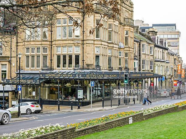bettys cafe and tea rooms, harrogate - tea room stock pictures, royalty-free photos & images