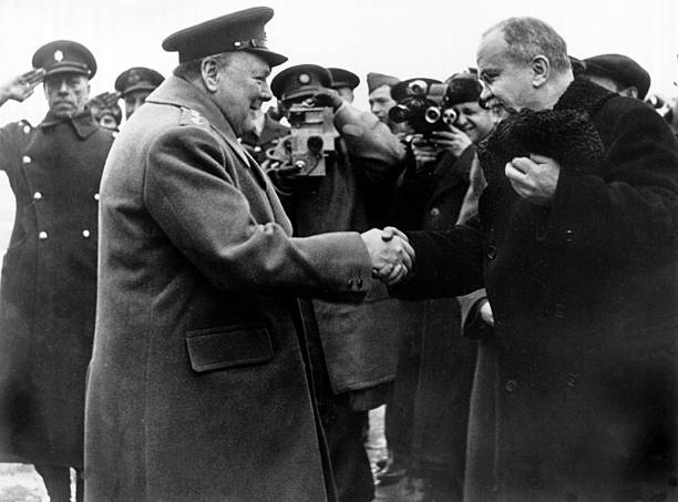The Yalta Conference 1945 Churchill And Molotov Pictures Getty