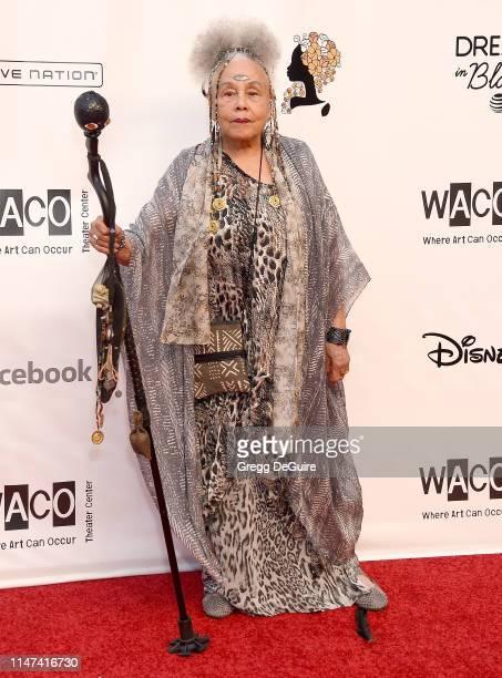 Betye Saar arrives at the WACO Theater Center's 3rd Annual Wearable Art Gala at The Barker Hangar at Santa Monica Airport on June 1 2019 in Santa...