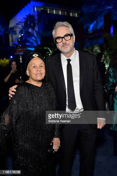 Betye Saar wearing Gucci and Alfonso Cuarón attend the 2019 LACMA Art Film Gala Presented By Gucci at LACMA on November 02 2019 in Los Angeles...