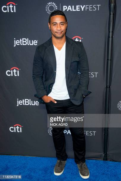 Beulah Koale arrives for the Paley Center for Media's 2019 PaleyFest 'Hawaii Five0' 'MacGyver' And 'Magnum PI' March 23 2019 at the Dolby Theater in...