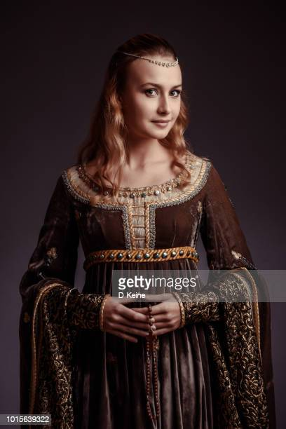 beutiful woman - medieval stock photos and pictures