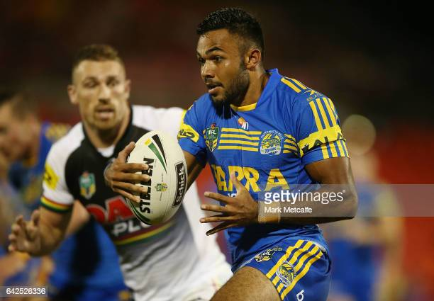 Bevan French of the Eels in action during the NRL Trial match between the Penrith Panthers and Parramatta Eels at Pepper Stadium on February 18 2017...