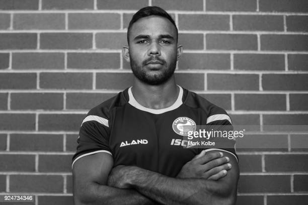 Bevan French poses during the Parramatta Eels NRL media day at the Old Saleyards Reserve on February 27 2018 in Sydney Australia