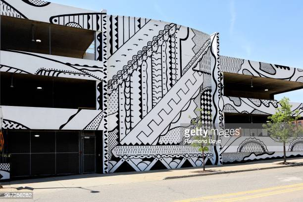 C Bevan's 'Automatic Transmission mural in Detroit Michigan on May 24 2018 MANDATORY MENTION OF THE ARTIST UPON PUBLICATION RESTRICTED TO EDITORIAL...