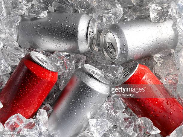 Beverage Cans on Ice