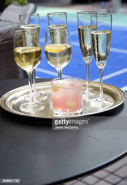 Beverages on display during the 2017 Lotte New York Palace Invitational at Lotte New York Palace on August 24 2017 in New York City