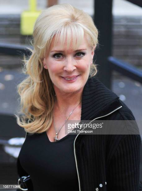 Beverley Callard is seen leaving ITV studio's on October 20 2010 in London England