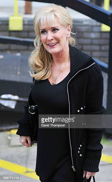 Beverley Callard is seen leaving ITV studio's on October 20, 2010 in London, England.