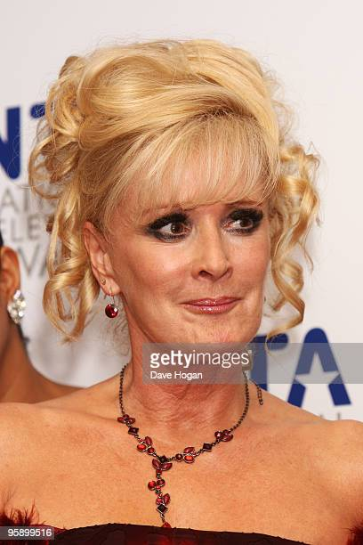 Beverley Callard poses in the press room at the National Television Awards held the at The O2 Arena on January 20 2010 in London England