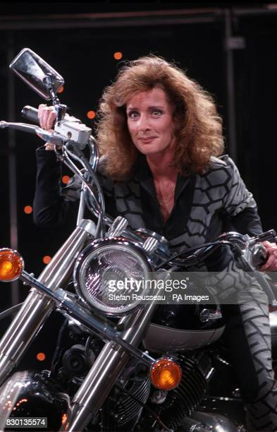 Beverley Callard who played Liz McDonald in Coronation Street rehearses her routine at the Empire in Shepherds Bush London after she was signed to...