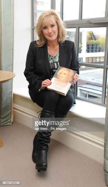 Beverley Callard with her new autobiography Unbroken at the Soho Hotel in London