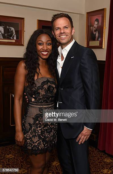Beverley Knight and Ben Richards attend the press night performance of 'The Bodyguard' at The Dominion Theatre on July 21 2016 in London England