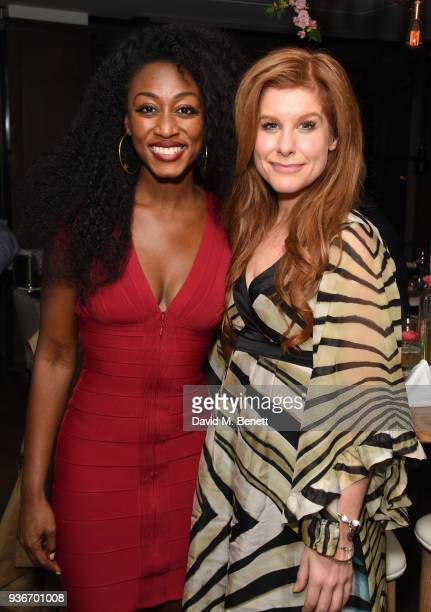 Beverley Knight and Cassidy Janson attend Beverley Knight's birthday party at The May Fair Hotel on March 22 2018 in London England