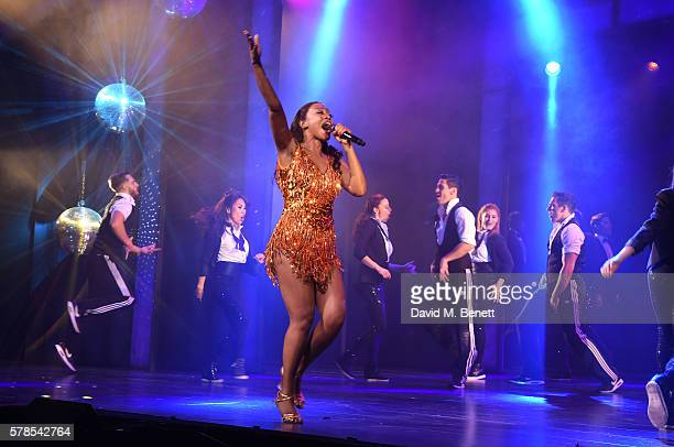 Beverley Knight and cast take the curtain call at the press night performance of 'The Bodyguard' at The Dominion Theatre on July 21 2016 in London...