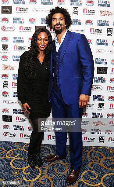 Beverley Knight and David Haye attend the Nordoff Robbins Boxing Dinner at the London Hilton Park Lane on October 24 2016 in London England