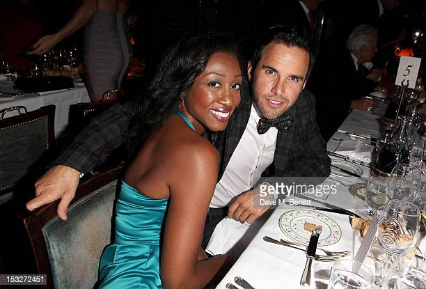 Beverley Knight and James O'Keefe attend Ben Caring's birthday party at Annabel's on October 2 2012 in London England
