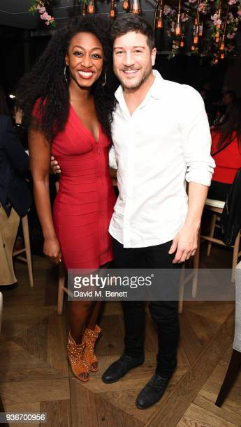 Beverley Knight and Matt Cardle attend Beverley Knight's birthday party at The May Fair Hotel on March 22 2018 in London England