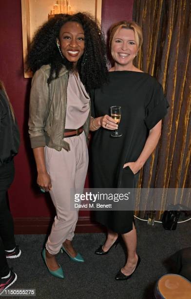 Beverley Knight and Tina Hobley attend the 'Ladies Who Rock' Lunch in aid of Teenage Cancer Trust at the Karma Sanctum Soho on June 18 2019 in London...