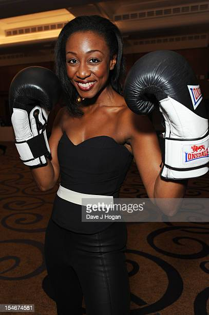 Beverley Knight attends a Nordoff Robbins Boxing fundraising dinner at The Grand Connaught Rooms on October 24 2012 in London England