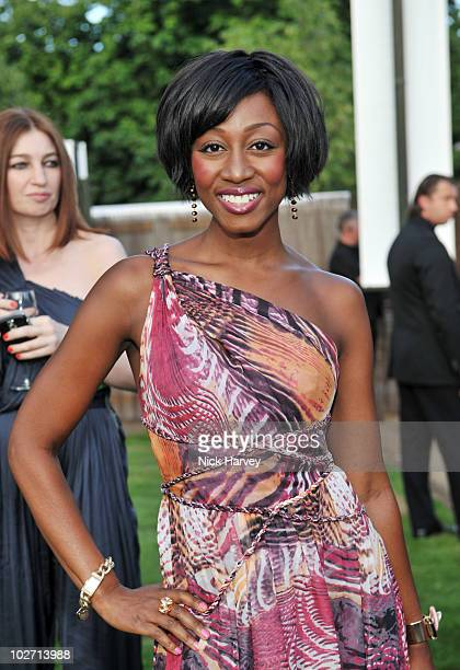 Beverley Knight attends the annual Serpentine Gallery summer party at The Serpentine Gallery on July 8 2010 in London England