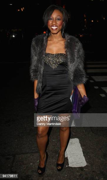 Beverley Knight attends the British Fashion Awards at The Royal Courts of Justice on December 9 2009 in London England