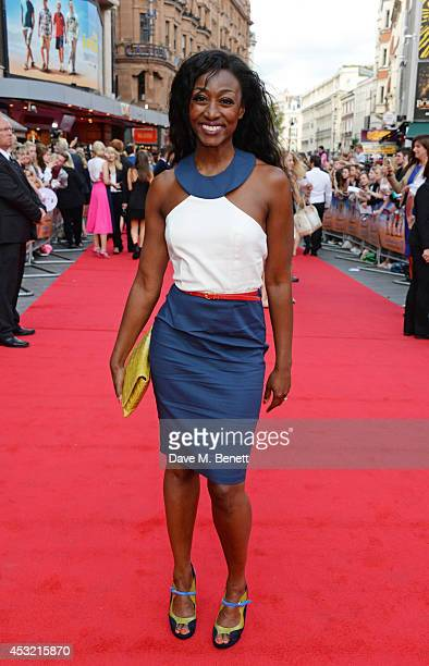 """Beverley Knight attends the World Premiere of """"The Inbetweeners 2"""" at Vue West End on August 5, 2014 in London, England."""