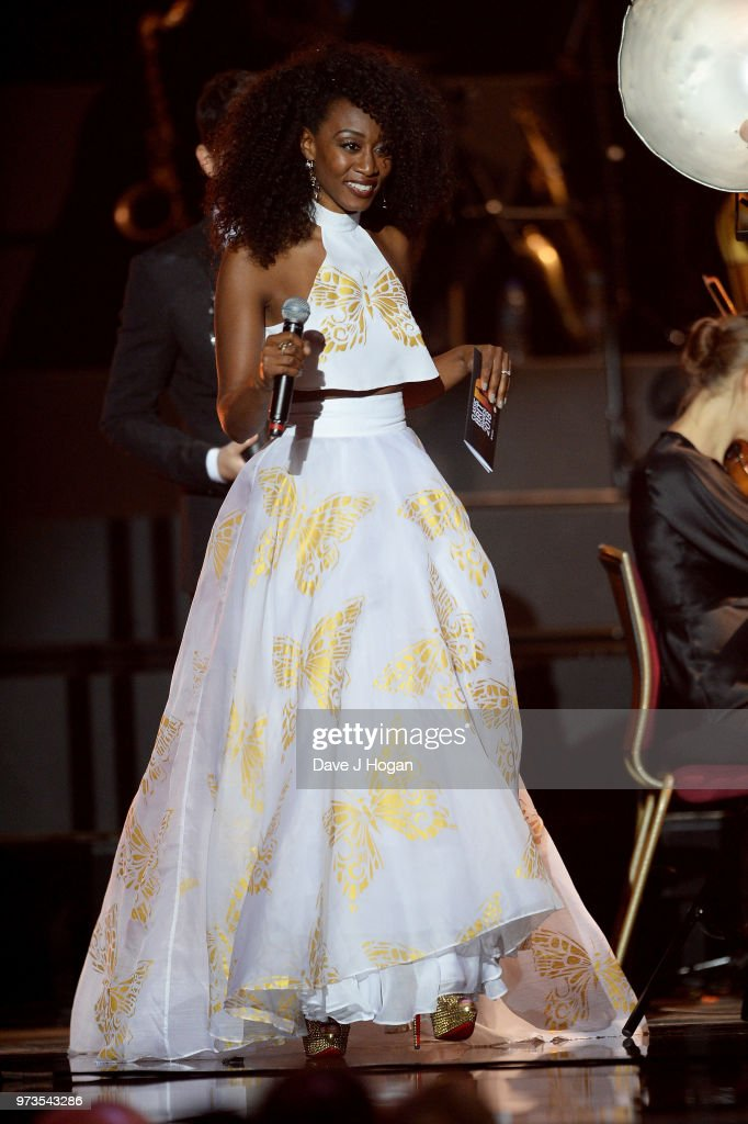 Beverley Knight collects the award for Female Artist of the Year, on behalf of Renee Fleming during the 2018 Classic BRIT Awards held at Royal Albert Hall on June 13, 2018 in London, England.