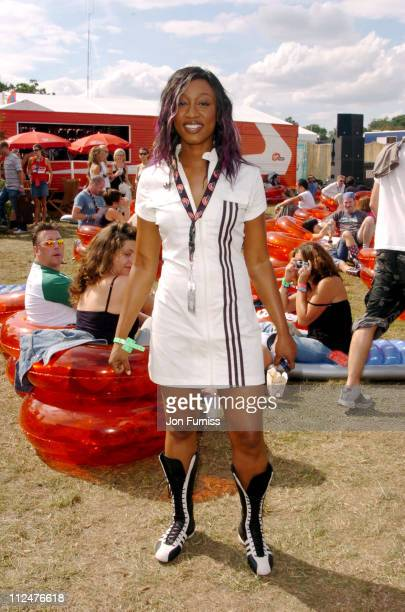 Beverley Knight during 2004 V Festival Chelmsford Day 2 Virgin Mobile Louder Lounge at Hylands Park in Chelmsford Great Britain