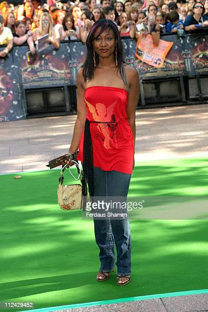 Beverley Knight during 'Charlie and the Chocolate Factory' London Premiere Arrivals at Odeon Leicester Square in London Great Britain