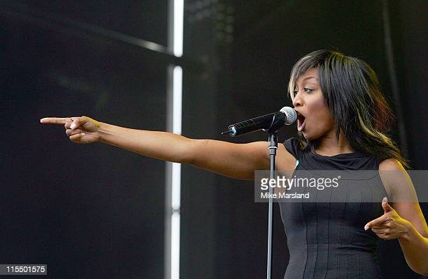 Beverley Knight during Summer XS Concert 2004 at The National Bowl in Milton Keynes Great Britain
