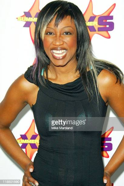 Beverley Knight during Summer XS Concert 2004 Backstage at The National Bowl in Milton Keynes Great Britain