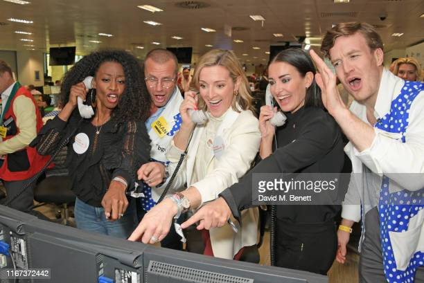 Beverley Knight Gabby Logan and Kirsty Gallacher all representing Muscular Dystrophy UK attend BGC Charity Day at One Churchill Place on September 11...